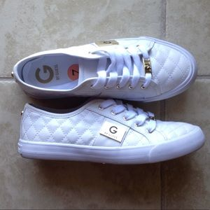 Guess Shoes - G by Guess quilted, white shoes